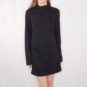 Tibi button neck mini dress